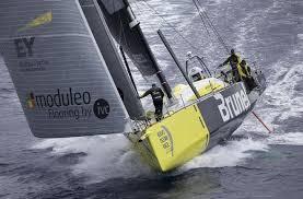 Team brunel tijdens de Volvo Ocean Race